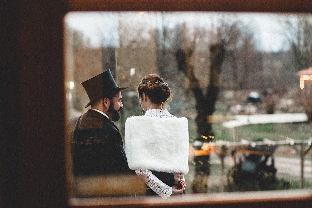 Eine Hochzeit im Winter auf Gut Boltenhof